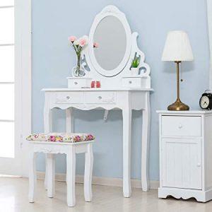 coiffeuse blanche style romantique