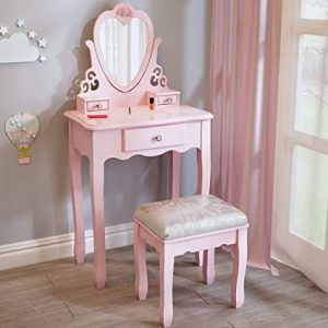 coiffeuse fille rose