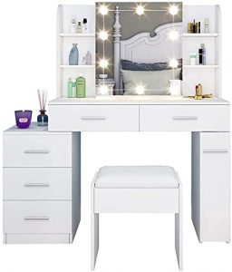 coiffeuse moderne blanche