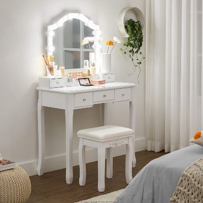 coiffeuse-miroir-led-vasagle-RDT170W01-amenagee.