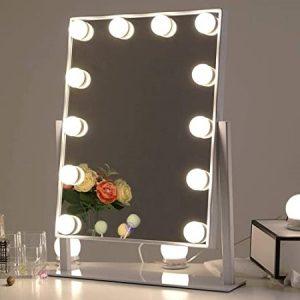 miroir avec éclairage pour coiffeuse